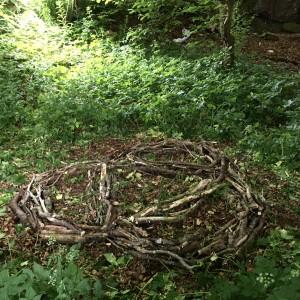 Art in the Woods. Group effort.