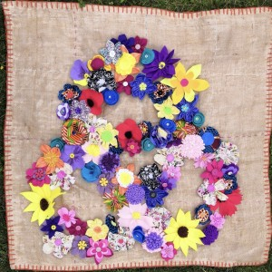 Fabric Flower Link.  Textile Art by Heather and Julie Nelson.