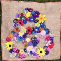 Fabric Flower Link - Textile Art by Heather and Julie Nelson