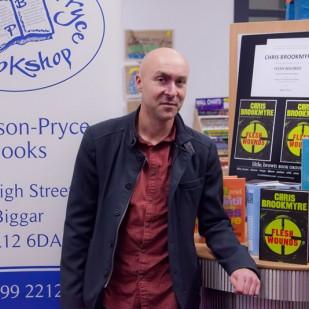Christopher Brookmyre at Biggar Library