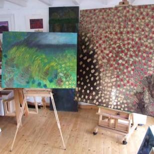 Carol Taylor, artist open studio