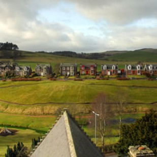 View across Burnbraes Park to Rowhead Terrace © Biggar Camera Club