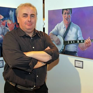 Tom Henry, guest artist at BLF opening reception